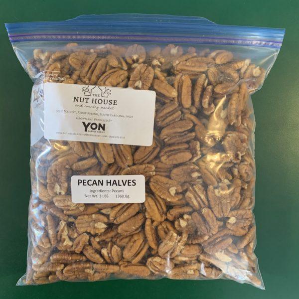 3 pound bag of pecan halves