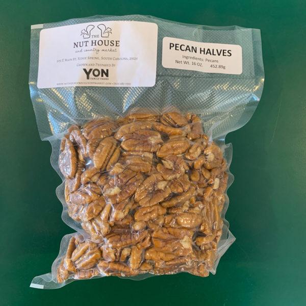 bag of Yon Family Farms pecan halves