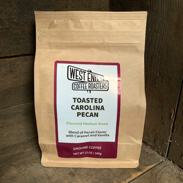 Bag of West End Coffee Roasters Toasted Carolina Pecan