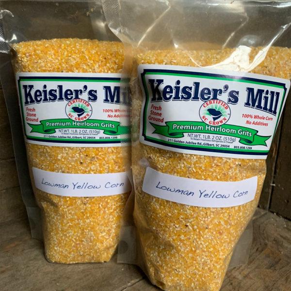 bags of keisler mills certified SC grits