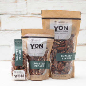 Grouping of all three sizes available of Roasted Pecans