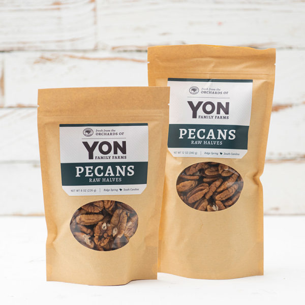 Grouping of two sizes available of Pecan Raw Halves